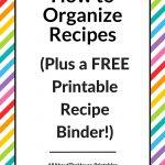 How To Organize Recipes (Plus A Free Printable Recipe Binder!)   All   Free Printable Cookbooks Pdf