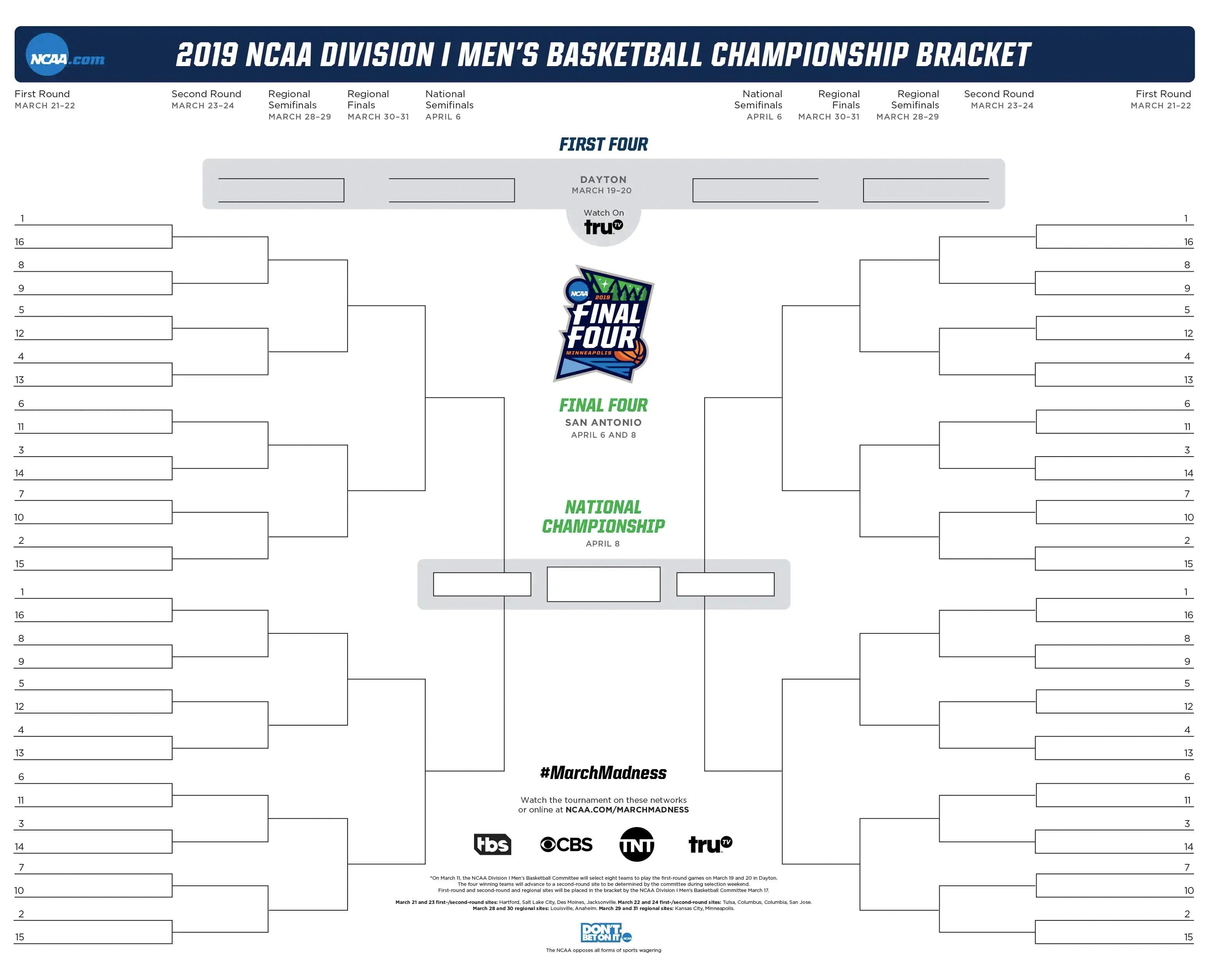 How To Play The Official March Madness Bracket Challenge Game | Ncaa - Free Printable March Madness Bracket