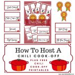 How To Throw The Ultimate Chili Cook Off | Lake Life State Of Mind   Chili Cook Off Printables Free