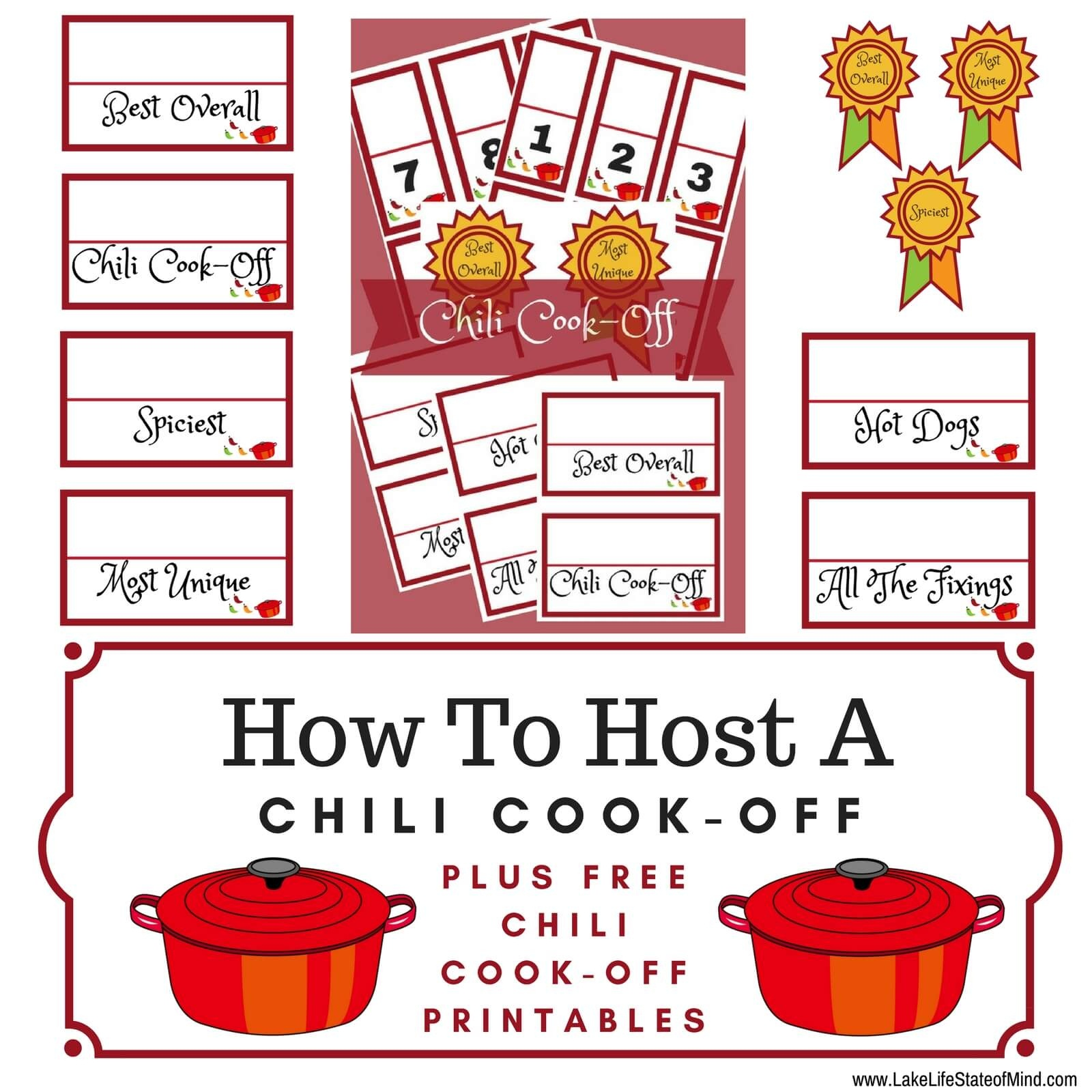 How To Throw The Ultimate Chili Cook-Off | Lake Life State Of Mind - Chili Cook Off Printables Free