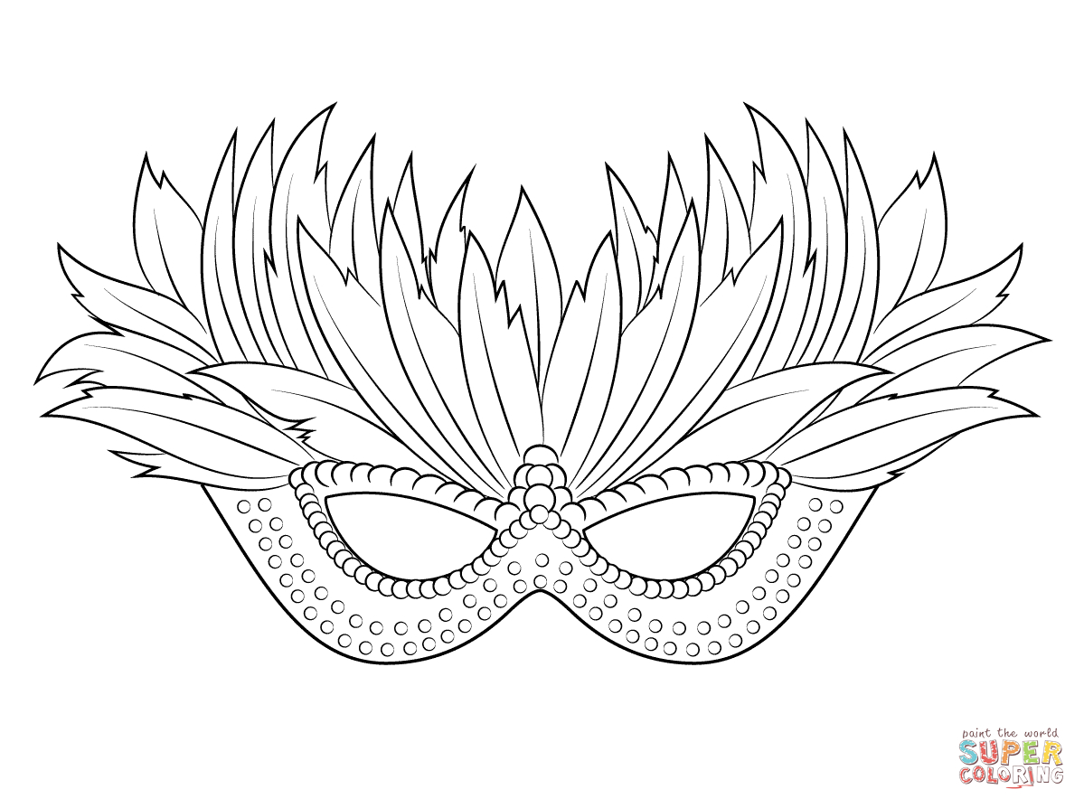 "I Love Coloring Ii ~ Venetian Mardi Gras Mask | Icolor ""the Arts - Free Printable Mardi Gras Masks"