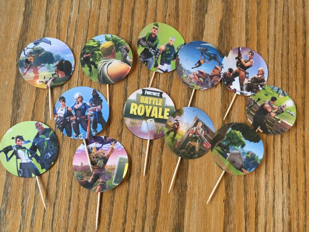 I Made These Fortnite Cupcake Toppers For My Son's 13Th Birthday And - Free Printable Fortnite Cupcake Toppers