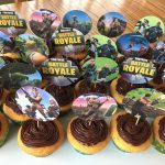 I Made These Fortnite Cupcakes For My Son's 13Th Birthday Party   Free Printable Fortnite Cupcake Toppers