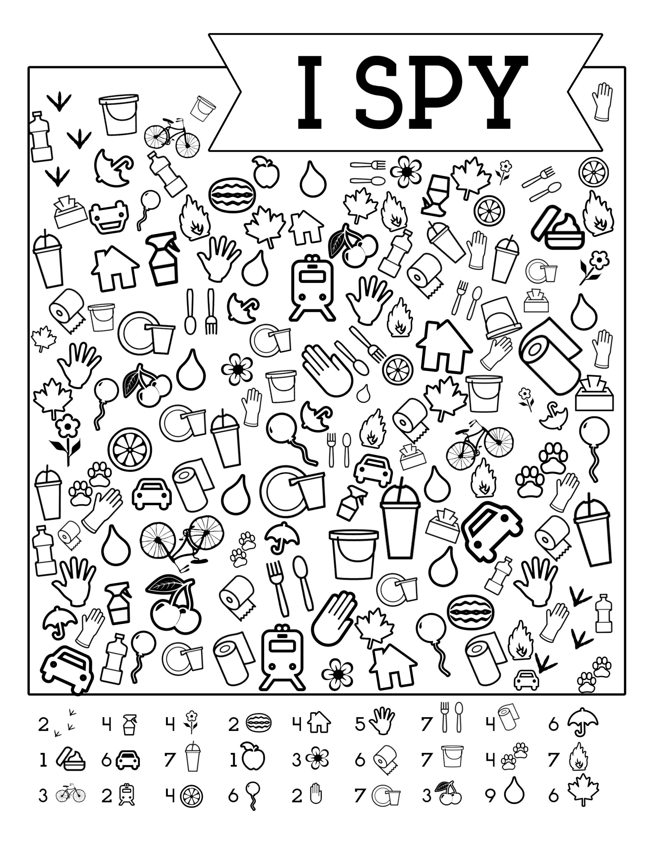 I-Spy-Free-Printable-Kids-Game | Spy School Camp | Spy Games For - Free Printable Hoy Sheets