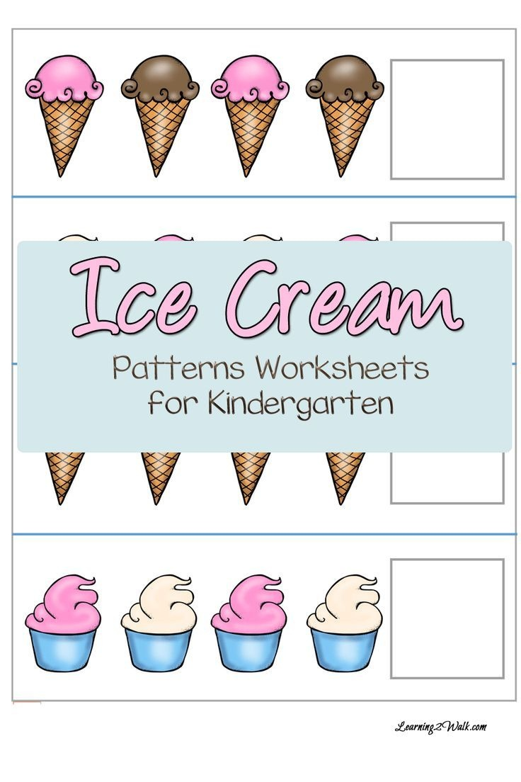 Ice Cream Patterns Worksheets For Kindergarten | Free Educational - Free Printable Ice Cream Worksheets