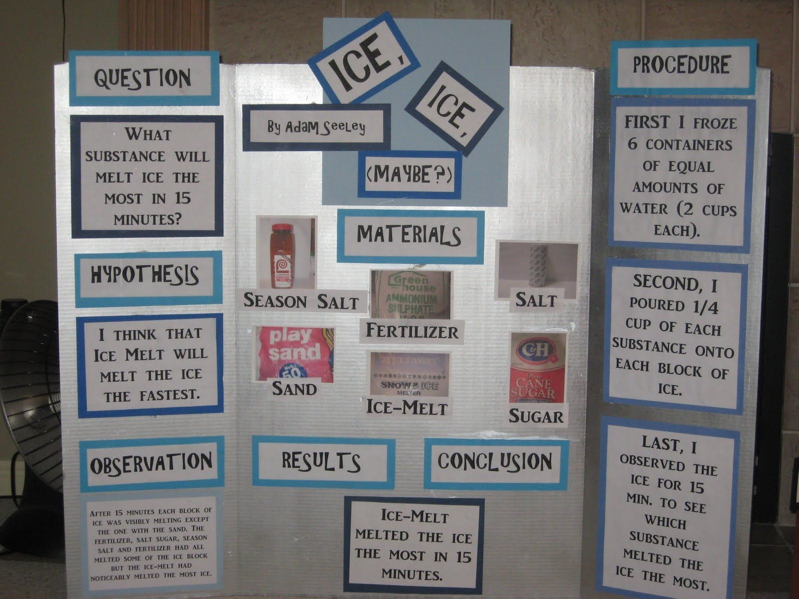 Ice Science Fair Project | Science Project | Science Fair Projects - Free Printable Science Fair Project Board Labels