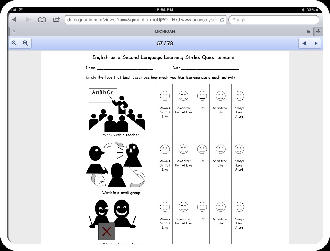 Identifying Student Learning Styles | All Access Pass - Free Learning Style Inventory For Students Printable