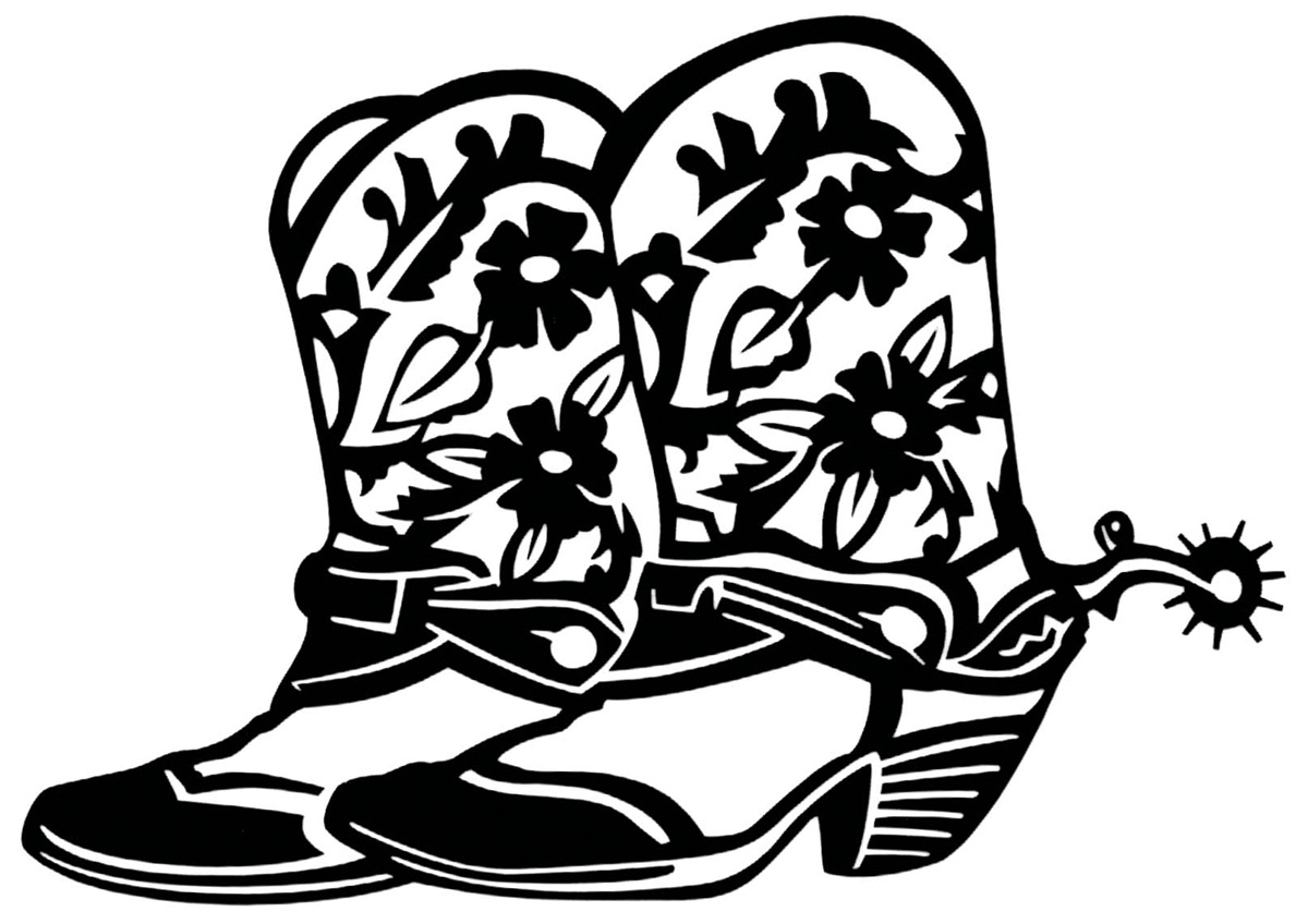 Image Of Cowboy Boot | Free Download Best Image Of Cowboy Boot On - Free Printable Cowboy Boot Stencil