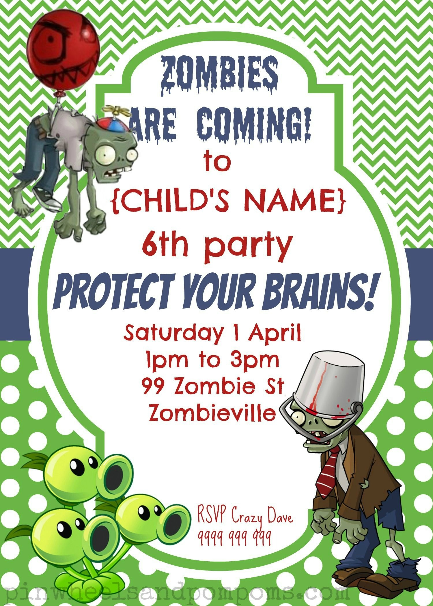 Image Result For Free Printables Plants Vs Zombies | Zombies Vs - Plants Vs Zombies Free Printable Invitations