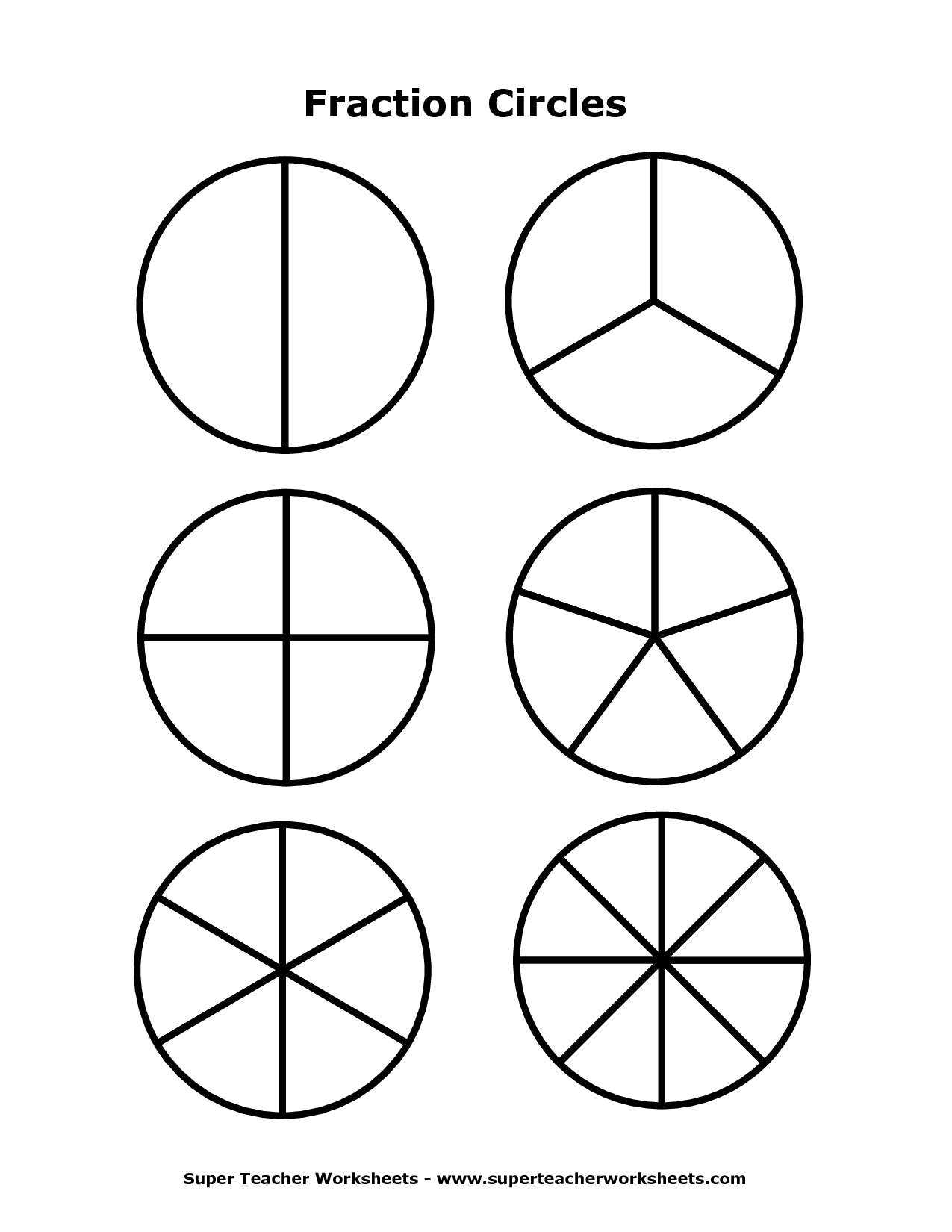 Images Of Fraction Circles - Google Search | Teaching Ideas - Free Printable Blank Fraction Circles