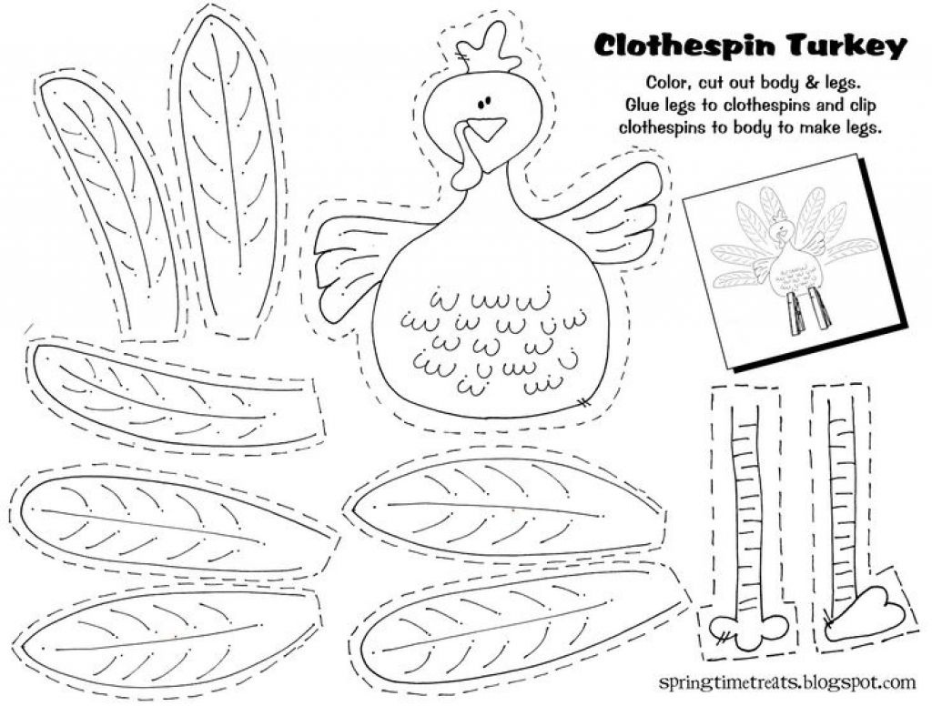 Imgenes De Free Printable Thanksgiving Crafts For Kindergarten - Free Printable Turkey Craft