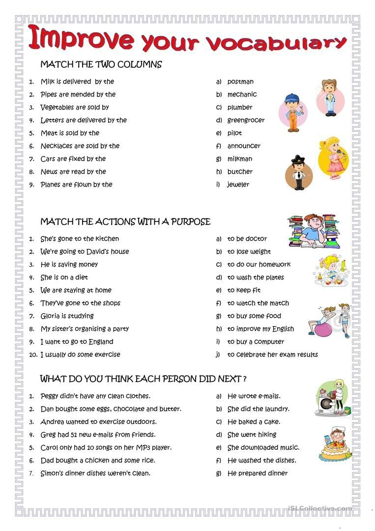 Improve Your English Worksheet - Free Esl Printable Worksheets Made - Free Esl Printables For Adults