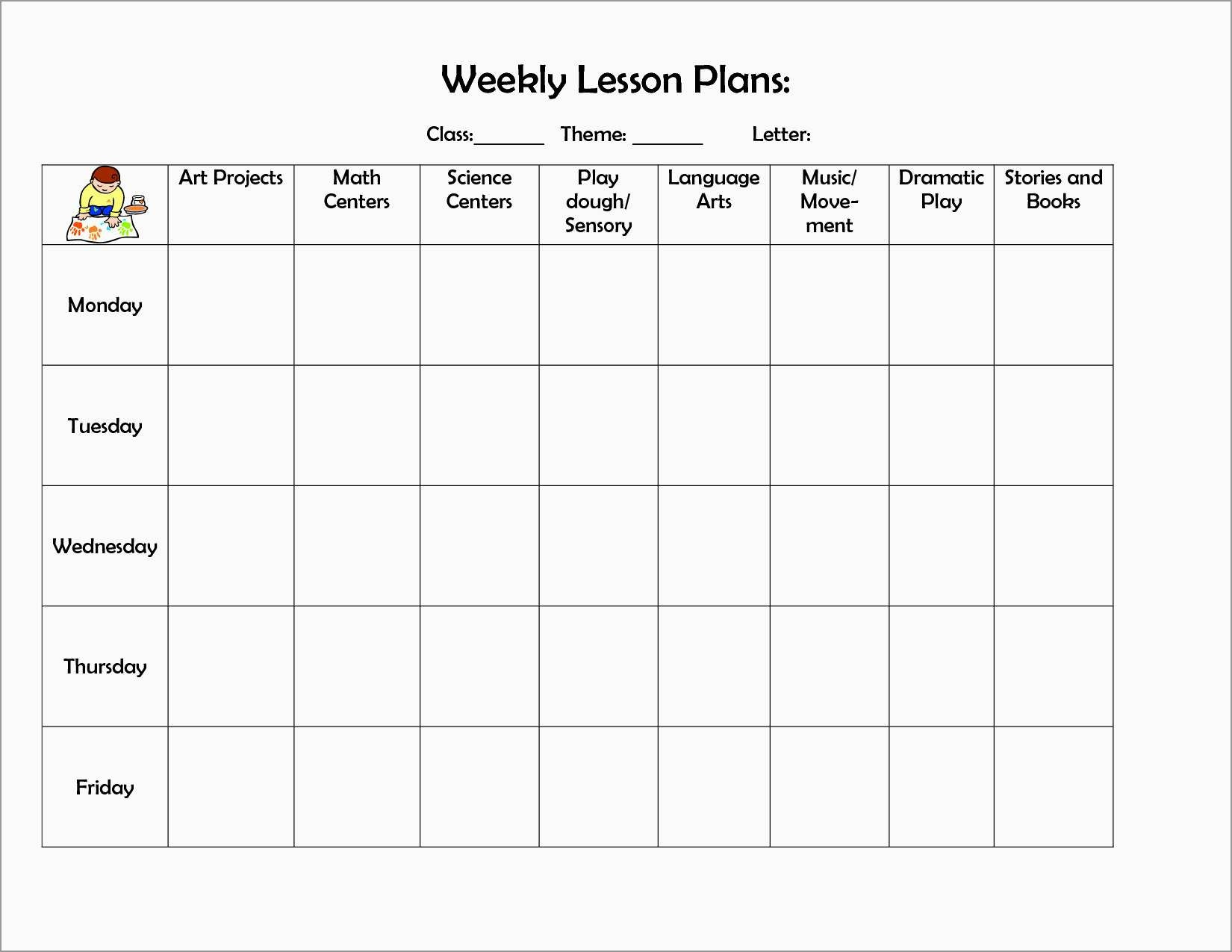 Inspirational Free Printable Lesson Plan Template Blank | Best Of - Free Printable Infant Lesson Plans
