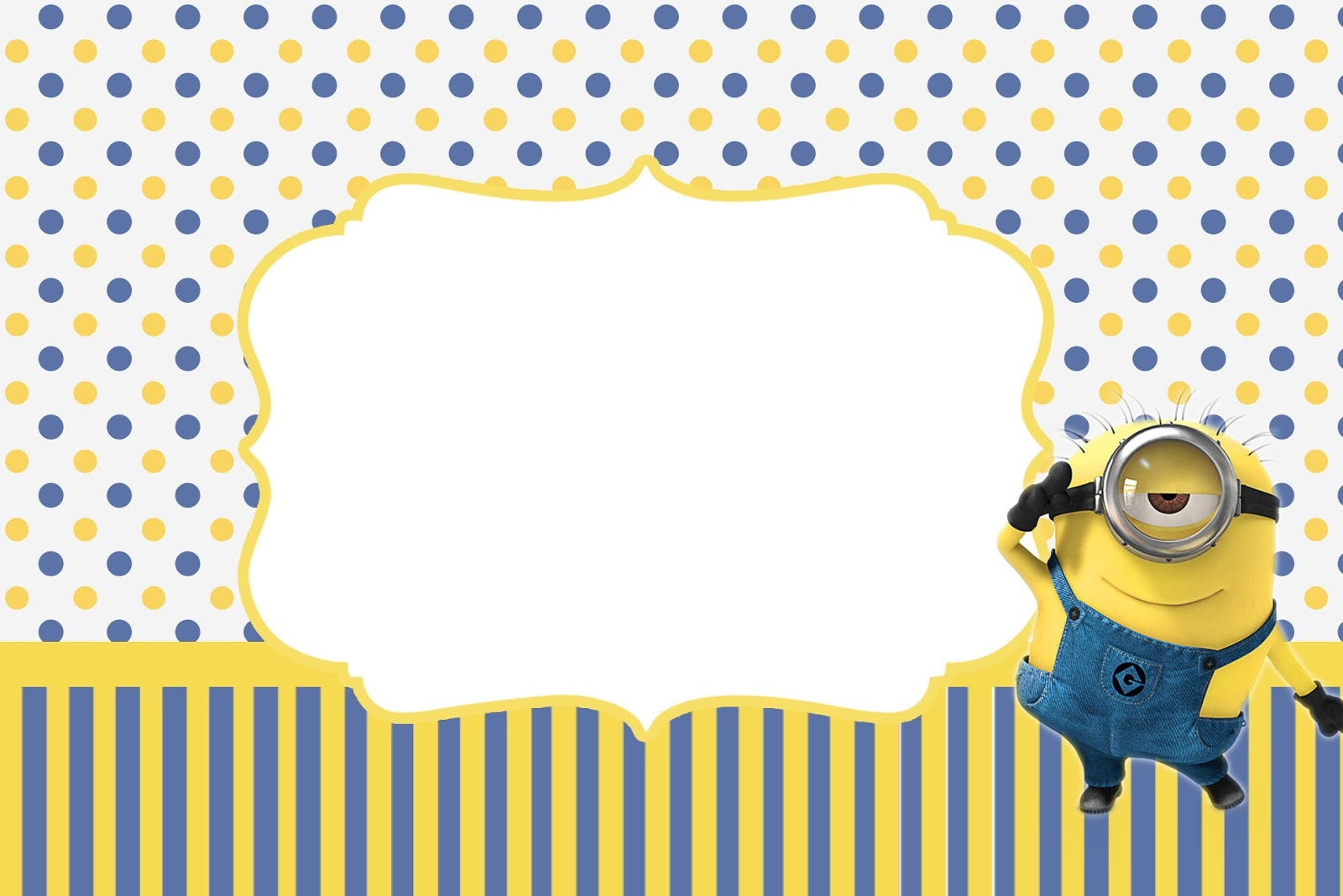 Inspired In Minions Party Invitations, Free Printables. - Oh My - Party Invitation Maker Online Free Printable