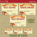 Instant Download! Chili Cookoff Winner Badges Labels / Printable Diy   Chili Cook Off Printables Free