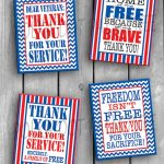 Instant Download Printable Veteran Military Patriotic Thank | Etsy   Military Thank You Cards Free Printable