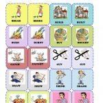 Irregular Verbs Memory Card Game( 1/3) Worksheet   Free Esl   Free Printable Memory Exercises