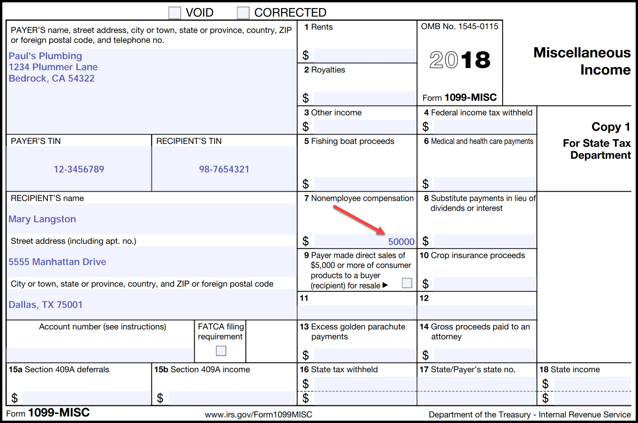 Irs Form 1099 Reporting For Small Business Owners - Free Printable 1099 Form 2018