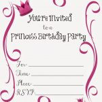 It's A Princess Thing: Free Printable Princess Birthday Party   Free Printable Princess Invitation Cards