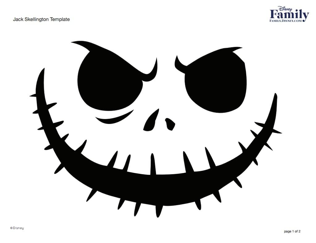 Jack Skellington | Free Disney Pumpkin Stencils | Popsugar Smart - Free Printable Jack Skellington Pumpkin Stencils