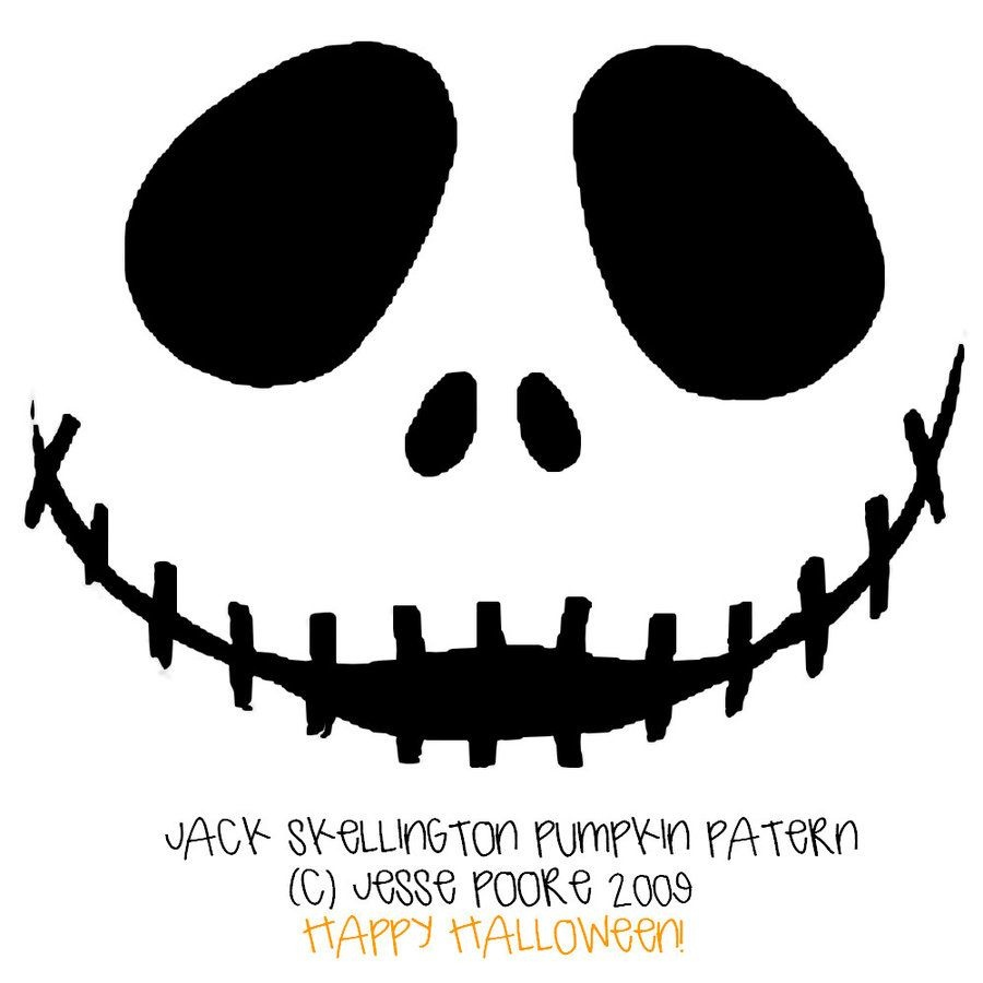 Jack Skellington Pumpkin Stencil. Might Put This On A Shirt To - Free Printable Jack Skellington Pumpkin Stencils