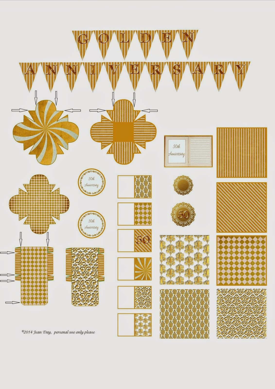 Jdayminis, 1:12 & 1:48 Scale Minis, Freebies & Inspiration: Free - Free 50Th Anniversary Printables