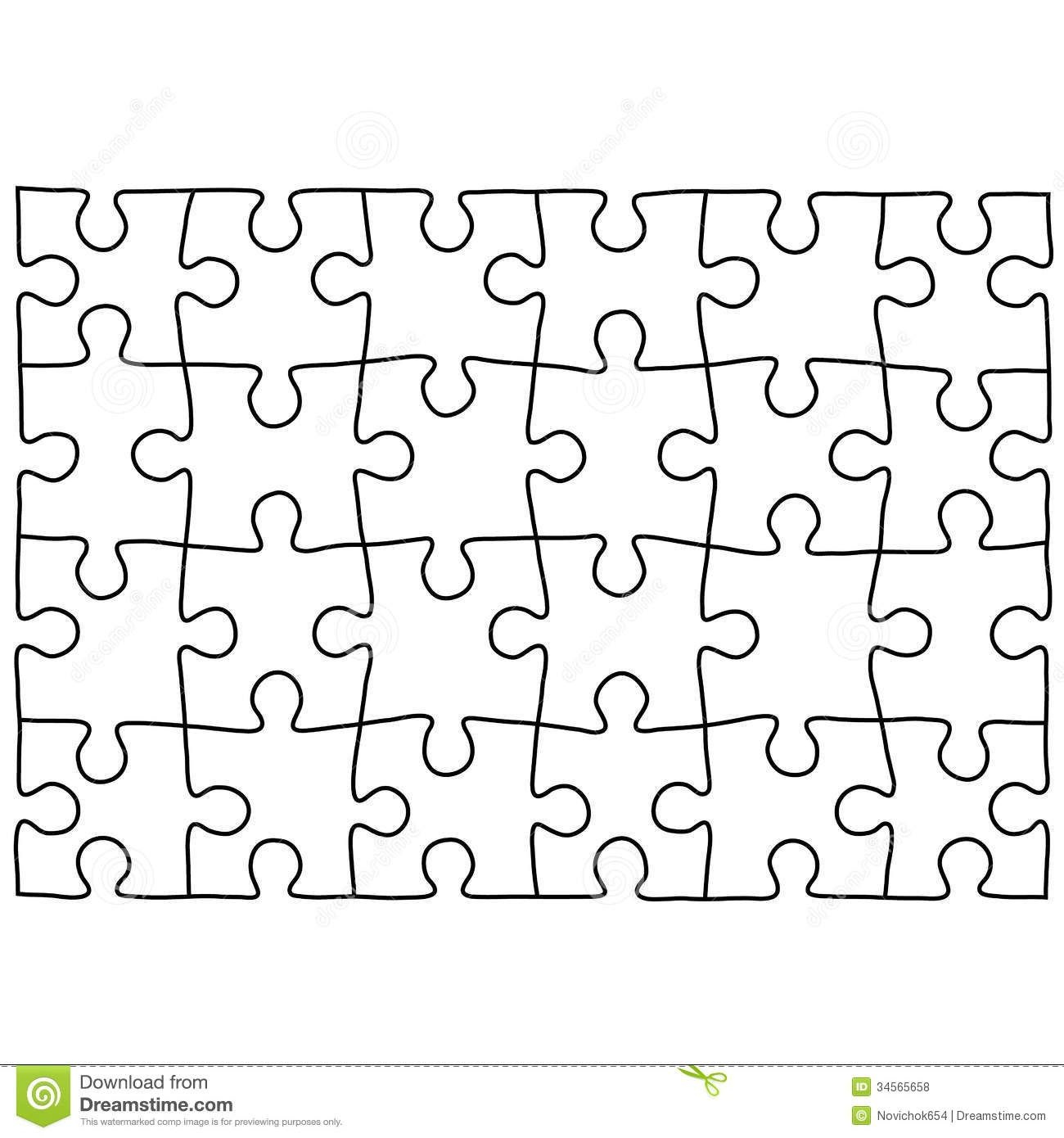 Jigsaw Puzzle Design Template | Free Puzzle Templates 1300.1390 - Jigsaw Puzzle Maker Free Printable