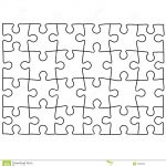 Jigsaw Puzzle Design Template   Free Puzzle Templates 1300.1390   Puzzle Maker Printable Free