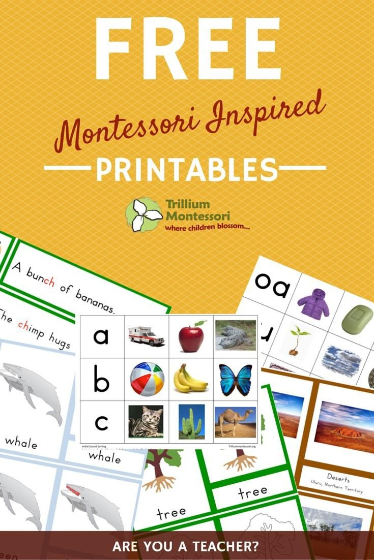 Join The Free Resource Library | Kids Development Materials - Free Montessori Printables