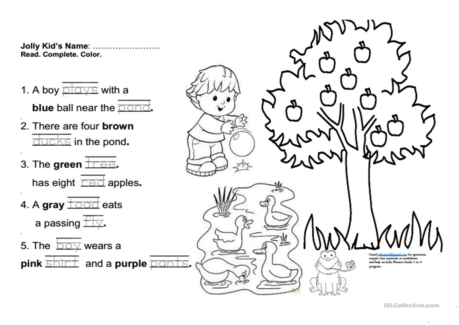 Jolly Phonics Book 3 Fun Final Test Worksheet - Free Esl Printable - Jolly Phonics Worksheets Free Printable