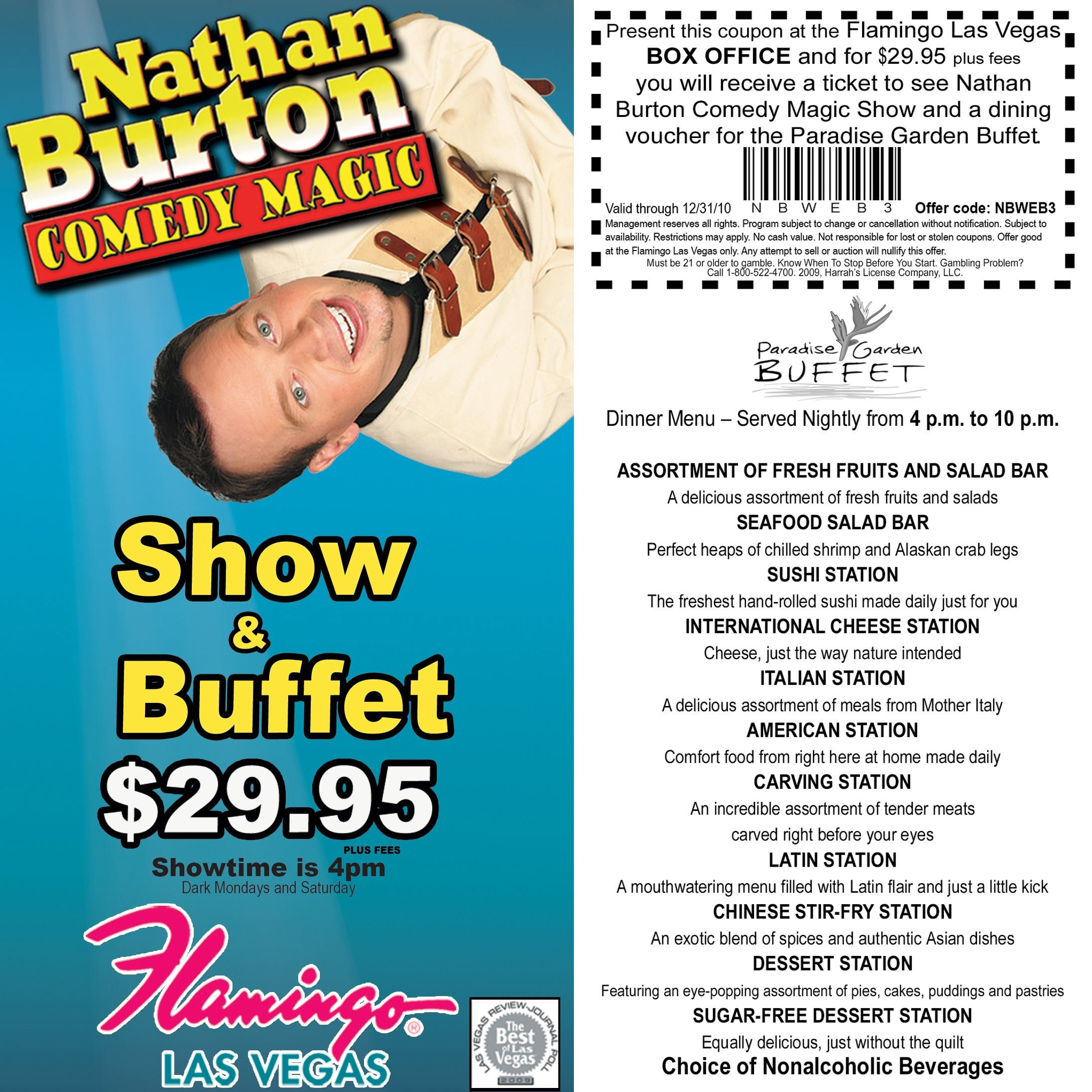 Jubilee Show Tickets 2 For 1 Las Vegas Coupon At Ballys Sweet - Free Printable Las Vegas Coupons 2014