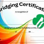 Juniors To Cadettes Bridging Certificate   Free Download | Girl   Free Bridging Certificate Printable