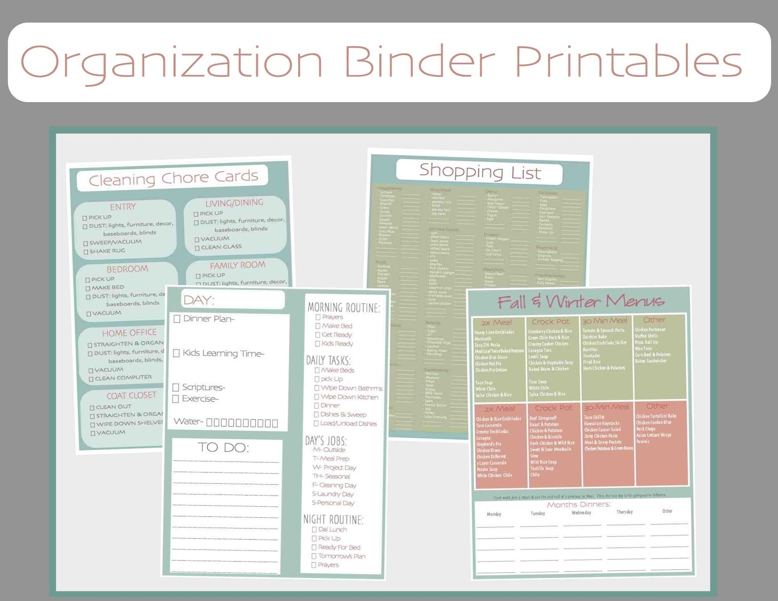 Just Sweet And Simple: Free Printable Household Organization Binder - Free Home Organization Binder Printables