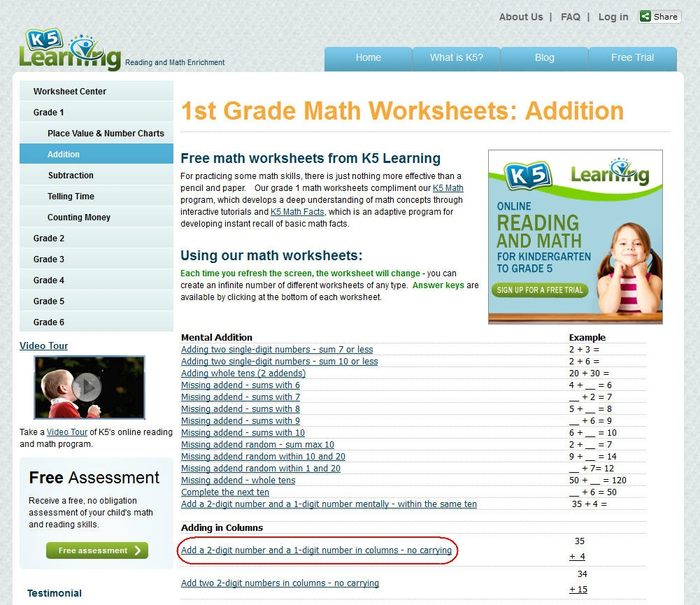 K5 Learning Launches Free Math Worksheets Center - K5 Learning Free Printable Worksheets