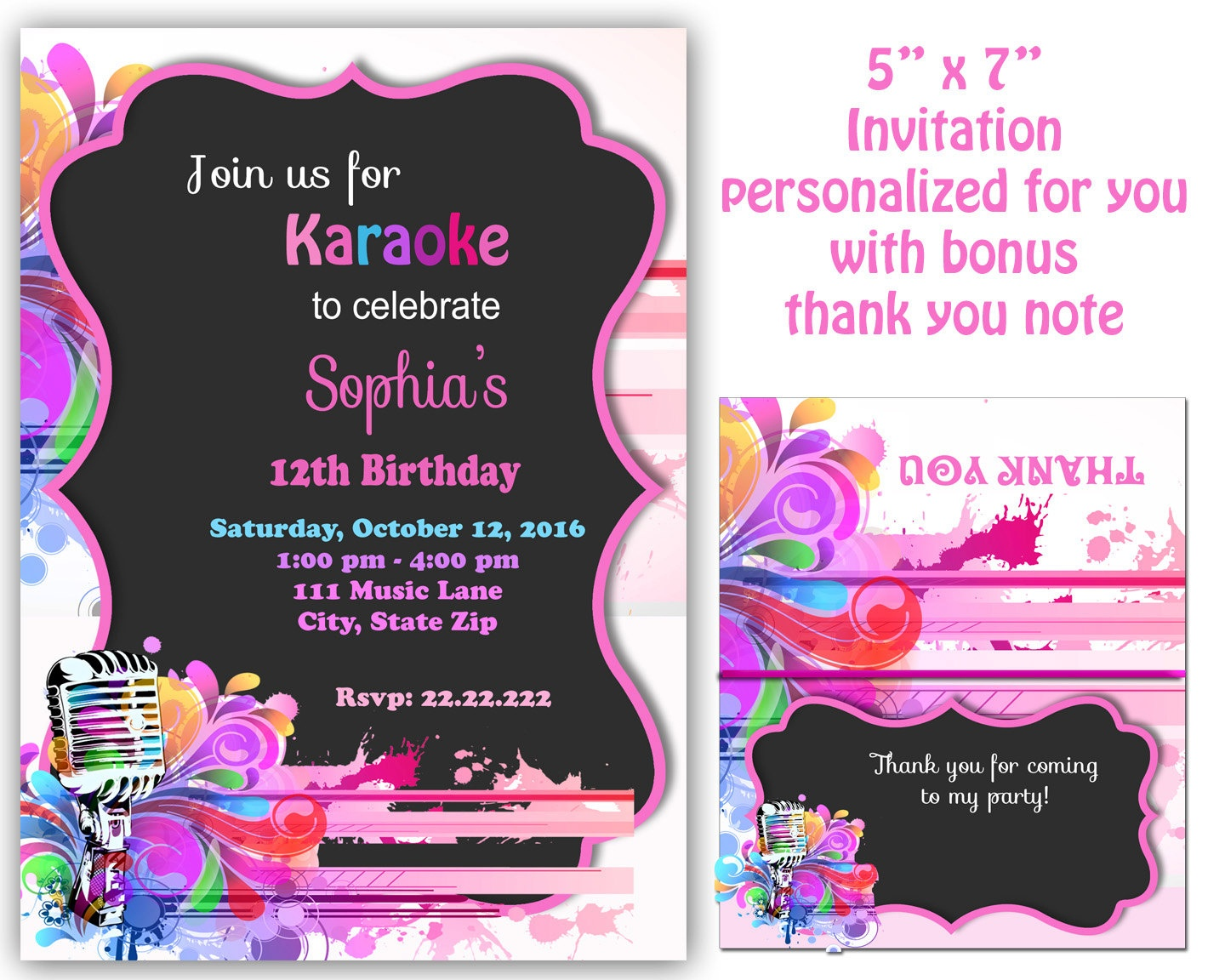 Karaoke Invitations - Kaza.psstech.co - Free Printable Karaoke Party Invitations