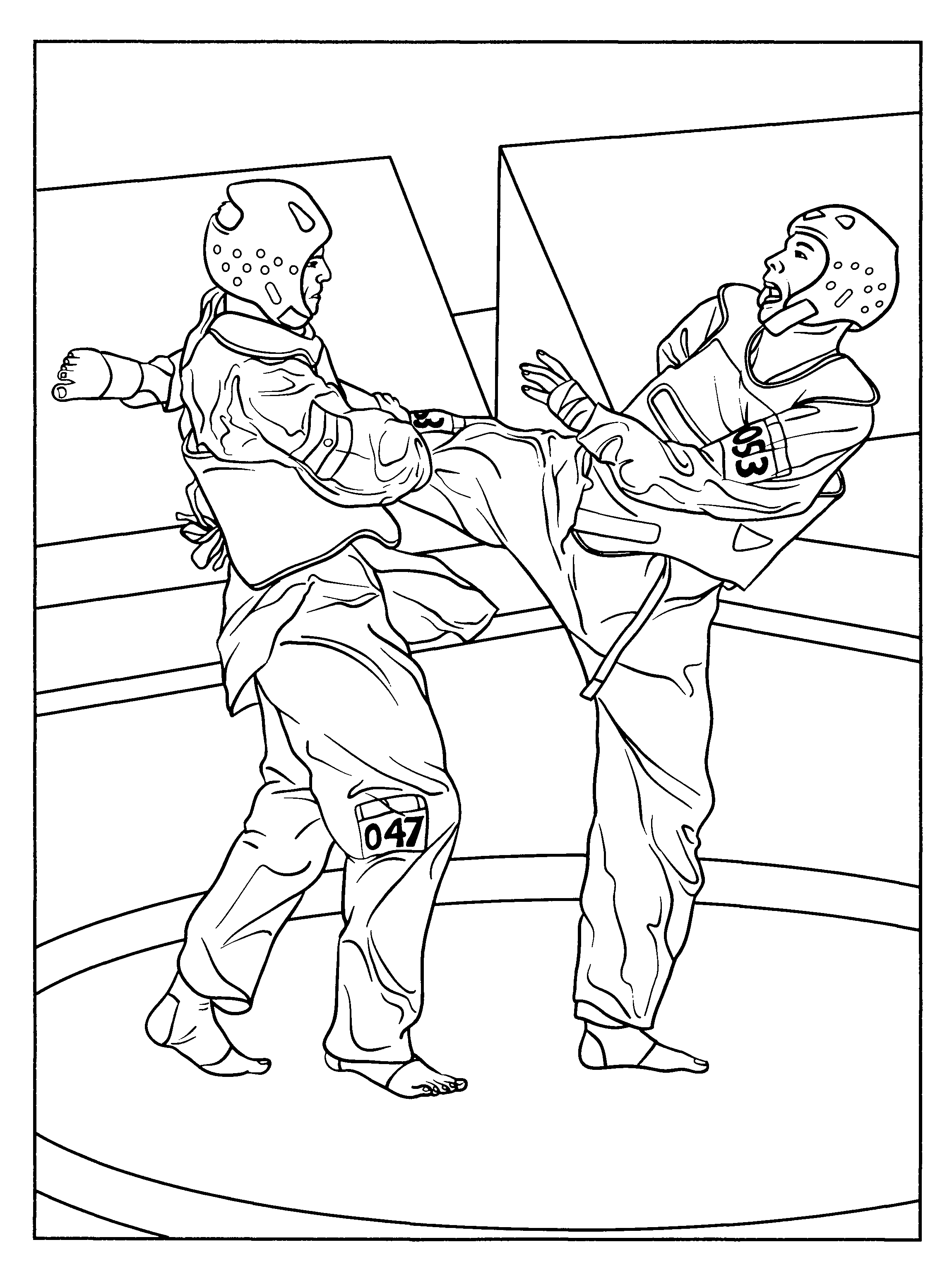 Karate Coloring Pages For Kids   Coloring Pages   Karate School - Free Printable Karate Coloring Pages