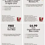 Kfc Canada Printable Coupons November 2018 / Wcco Dining Out Deals   Free Printable Coupons 2018