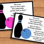 Kids Birthday Party Invitations Templates Free Printable   Free Printable Bowling Birthday Party Invitations