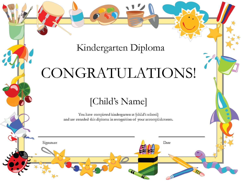 Kindergarten Graduation Certificate | Free Printable Kindergarten - Free Printable Graduation Certificates Templates