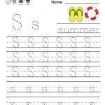 Kindergarten Letter S Writing Practice Worksheet Printable | G   Free Printable Letter Writing Worksheets