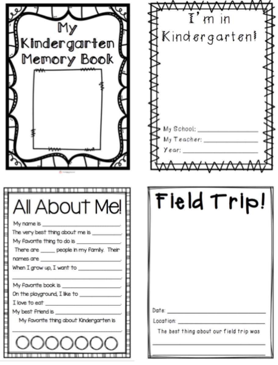 Kindergarten Memory Book | Education Ideas | Kindergarten Classroom - Free Printable Memory Book Templates