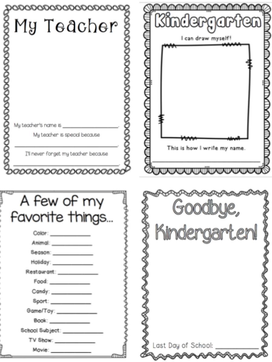 Kindergarten Memory Book | Kindergartenklub | Kindergarten - Free Printable Memory Book Templates