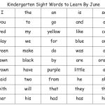 Kindergarten Sight Words List  Great Minus The Colors. Attach Color   Free Printable Kindergarten Sight Words