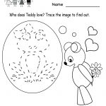 Kindergarten Valentine's Day Activities Worksheet Printable | Cute   Free Printable Valentine Worksheets For Preschoolers