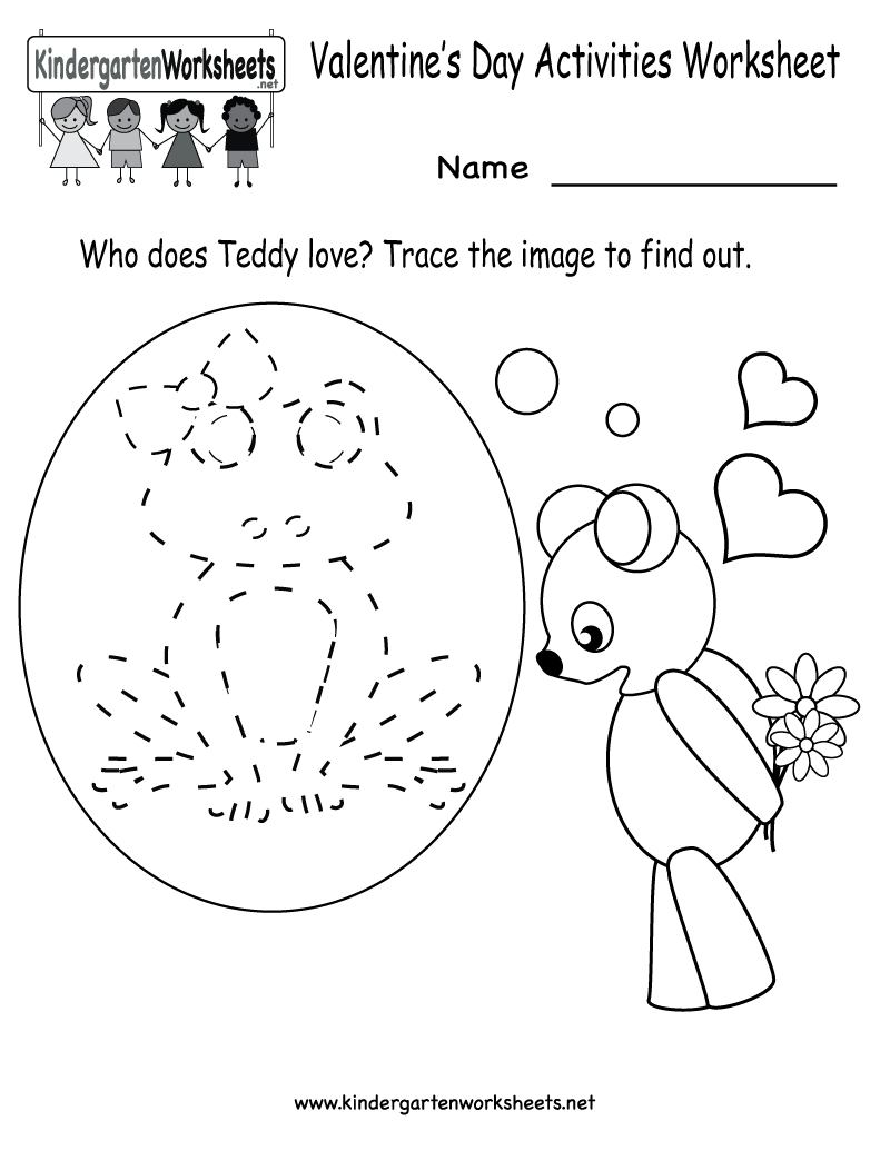 Kindergarten Valentine's Day Activities Worksheet Printable | Cute - Free Printable Valentine Worksheets For Preschoolers
