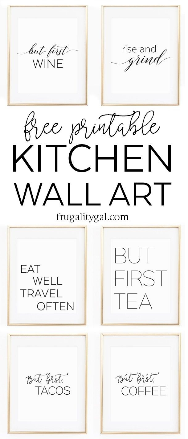 Kitchen Gallery Wall Printables | Free Printable Wall Art - Free Kitchen Printables