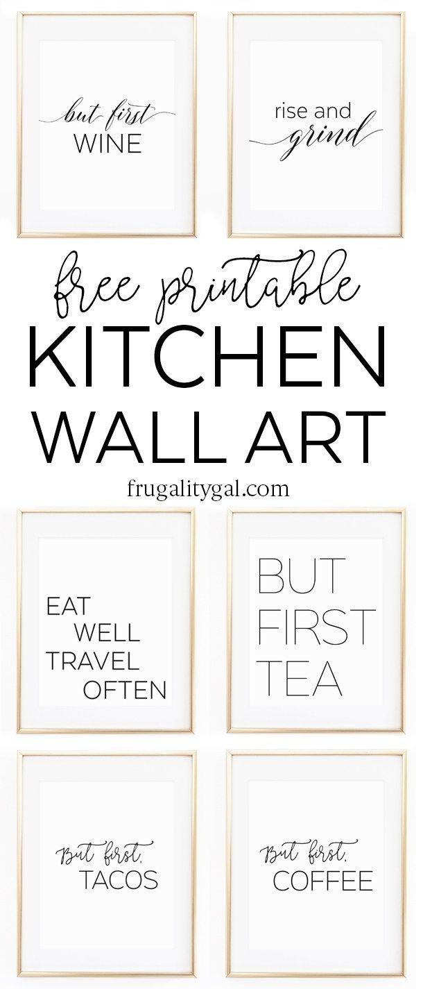 Kitchen Gallery Wall Printables | Free Printable Wall Art - Free Kitchen Printables
