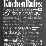 Kitchen Rules {Free Printable}   How To Nest For Less™   Free Printable Bedroom Door Signs