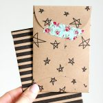 Kraft Paper Gift Card Envelope Free Printable | Let's Wrap Stuff   Free Printable Gift Card Envelope Template