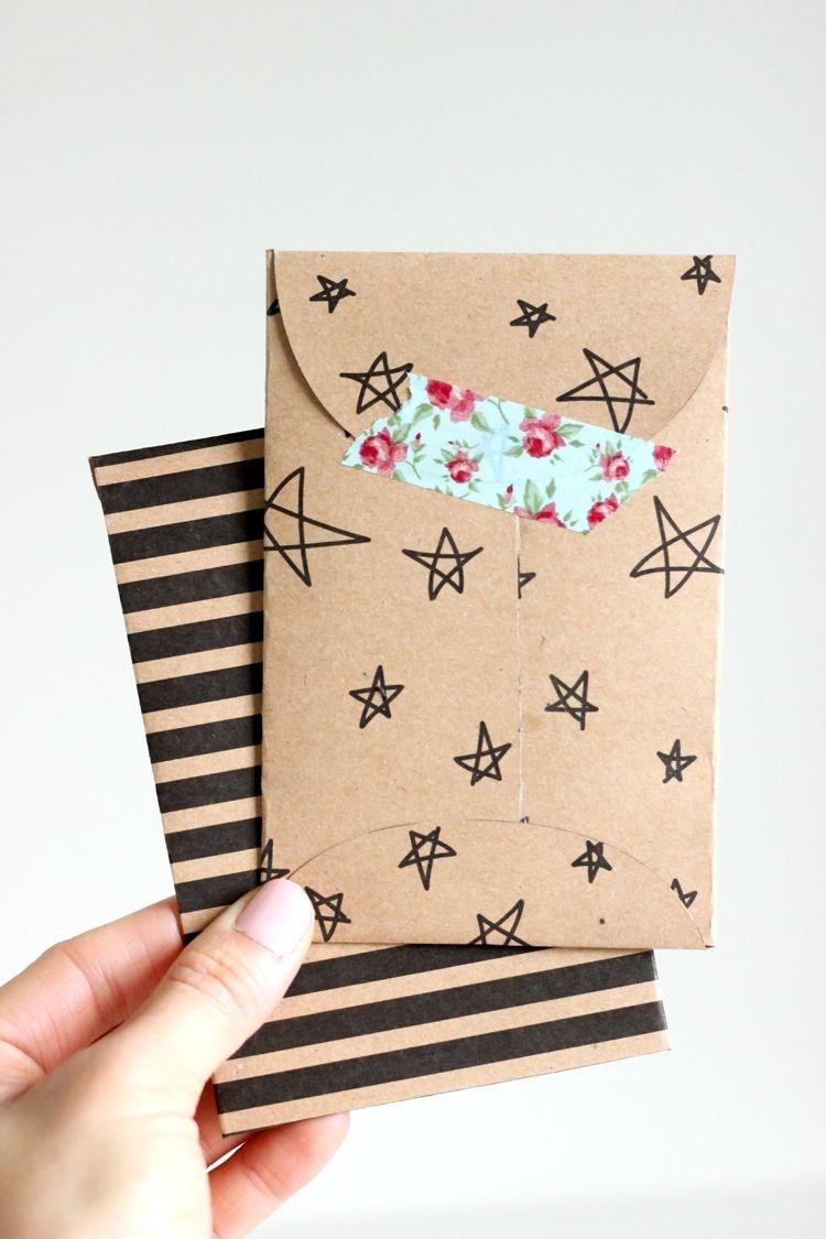 Kraft Paper Gift Card Envelope Free Printable | Let's Wrap Stuff - Free Printable Gift Card Envelope Template